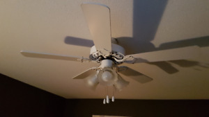 Celing fan with lights