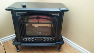 Beautiful Arts and Crafts style free standing Electric Fireplace