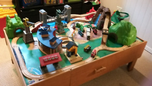 TRAIN TABLE with Lots of accessories!