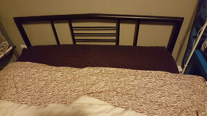 Double Jysk bed frame and mattress for sale