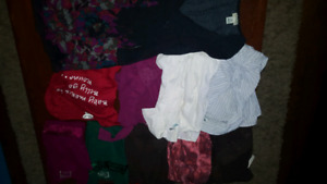 Maternity clothes mostly size small and some medium