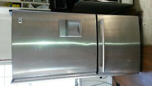 Stainless steel LG bottom freezer for sale In new condition