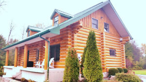 Log Home Refinishing (Strip, Stain & Chink)