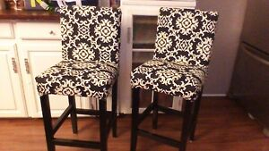 2 bar stools 27 hign from floor to seat
