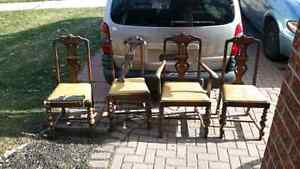 New price 4 vintage chairs