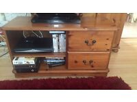 Tv unit solid oak wood
