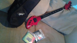 Fender Ashbory Bass, Frost Red, fretless