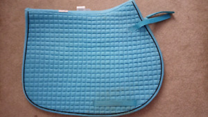 Light blue saddle pad