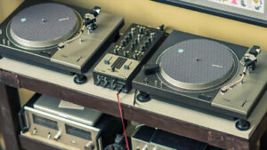 Vintage Two Technics  SL 1100A Direct Drive Turntable