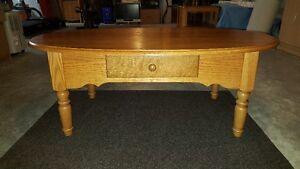 Solid Oak Coffee Table - Like New