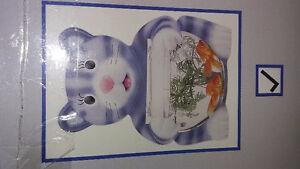 LARGE CAT GLASS FISHBOWL BRAND NEW