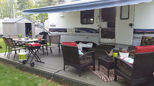 5th wheel at crystal beach campground