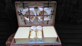 Vintage Brexton picnic case