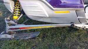 Ski Doo trailing arms, front suspension. Skis