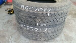 Pair of 2 Yokohama Geolandar HTS 265/70R17 tires (50% tread life