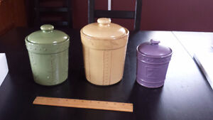 Three Piece Kitchen Canister Set - NEW