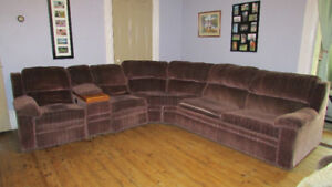 Large Wine color sectional sofa