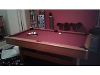 Pool table and accessories, like new, £150