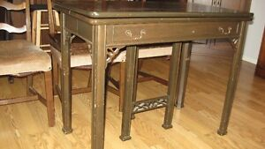 Antique Foldup table and 4 chairs