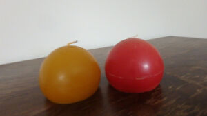 hand-made globe candles for XMAS
