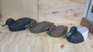 4 Appelants en bois,canard,art populaire