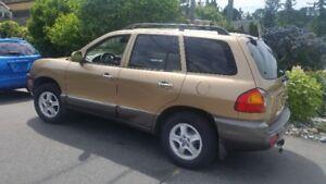 2002 Hyundai Santa Fee Sport $1700.00 will sell fast.