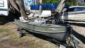 14ft aluminum boat & trailer