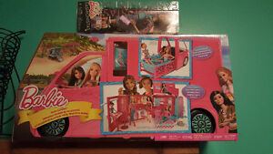 Brand new barbie glam camper and one barbie