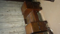 Antique Mens and Ladies Dressers w/ Bench, Vanity, Night Table