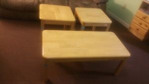 Light Wood Coffee Table and Side Tables!