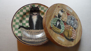 CAT PLATE SET OF 4
