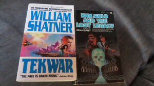Han Solo and William Shatner paperbacks