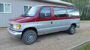 1992 Ford E-350 Burgundy Van