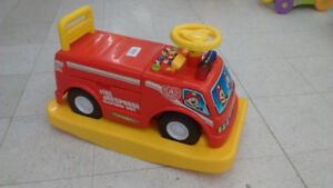 (146) Fire truck ride-on ONLY $12