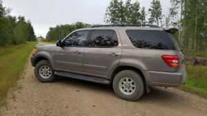 2002 Toyota Sequioa,  lots of space, great for family vacations