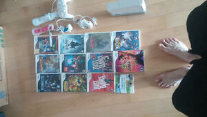 wii consel 2 controlers and numchucks. games and other assories.