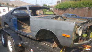 1972 Dodge Demon shell with BC registration and parts car