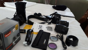 NIKON D-40 DIGITAL CAMERA With LENSES & FILTERS and CASE