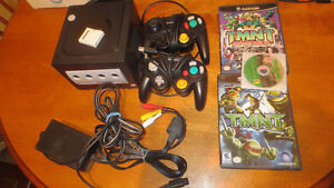 Nintendo Gamecube Console Lot Ninja Turtles games Controllers