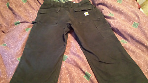36 /32 New carhart work pants with extra pockets