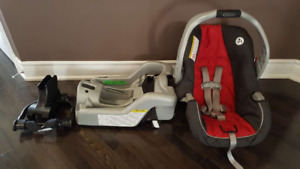 Mint condition Graco Carseat and Car base