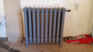 Old cast iron hot water radiator