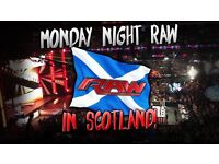 2 ringside tickets for Raw