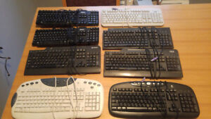 Various Keyboards (Multimedia, USB, PS/2)