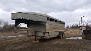 2000 Eagle Iron stock trailer TAKING OFFERS