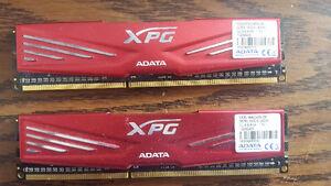 2x4gb of DDR3 RAM Adata XPG and G.Skill Jaws X