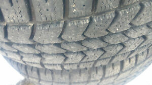 (4) 215/70R16 Winter Tires 80% thread
