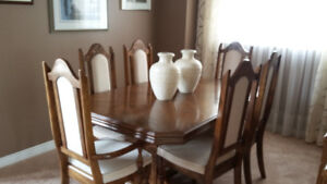 Solid Oak Formal Dining Set