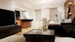 Modern and cozy 4 1/2 Brand New Furnished Apartment