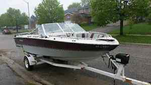 18' Boat Trailer with Power Winch & Free Boat